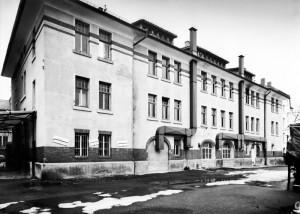 Schellingstraße 9–11, après la fin de son utilisation comme blanchisserie de la garnison française, 1987, photographie et droits : Joachim Feist