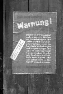 Warnplakat der Jungsozialisten gegen die Fremdenlegion, Foto: Alfred Göhner, Bildrechte: Stadtarchiv Tübingen