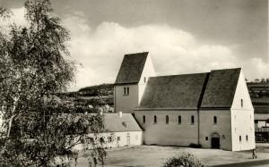 L'église St. Michael, Hechinger Straße 45, carte postale des frères Metz, photographe : G. Lutz, droits : Haus der Geschichte Baden-Württemberg
