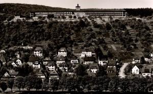 L'ancien hôpital du quartier Sand, vue de l'Österberg