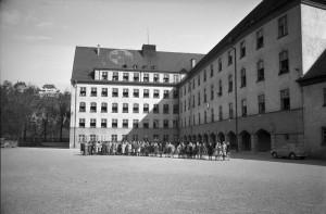 Le retour de la Wildermuth-Schule à sa fonction d'école allemande, le 19 avril 1955
