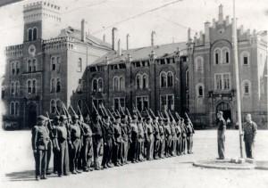 Befreite polnische Zwangsarbeiter