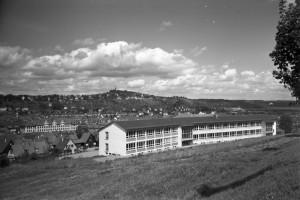 La Französische Schule, vue sur la caserne Loretto et l'Österberg, 1956