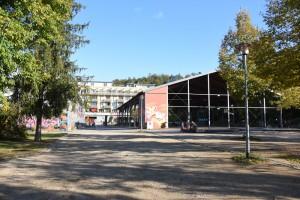 Ehemalige Panzerhalle im Französischen Viertel, Herbst 2015, Foto: Bernhard Kleeschulte