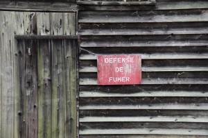 Détail dans l'ancien dépôt de munitions de Schindhau, automne 2015, photographe : Bernhard Kleeschulte